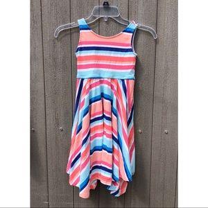 Gymboree striped jagged hem dress
